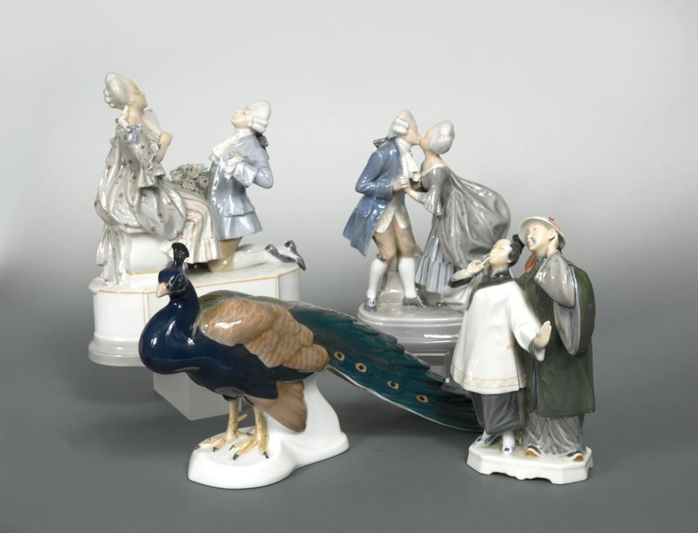 "Lot 45 - Christian Thomsen (Danish 1860-1921) for Royal Copenhagen, an early 20th Century porcelain group """