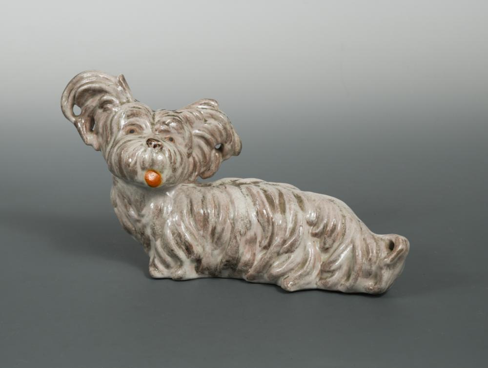 Lot 59 - Walter Bosse (Austrian, 1904-1979), an earthenware model of a Skye Terrier, impressed marks 16 x