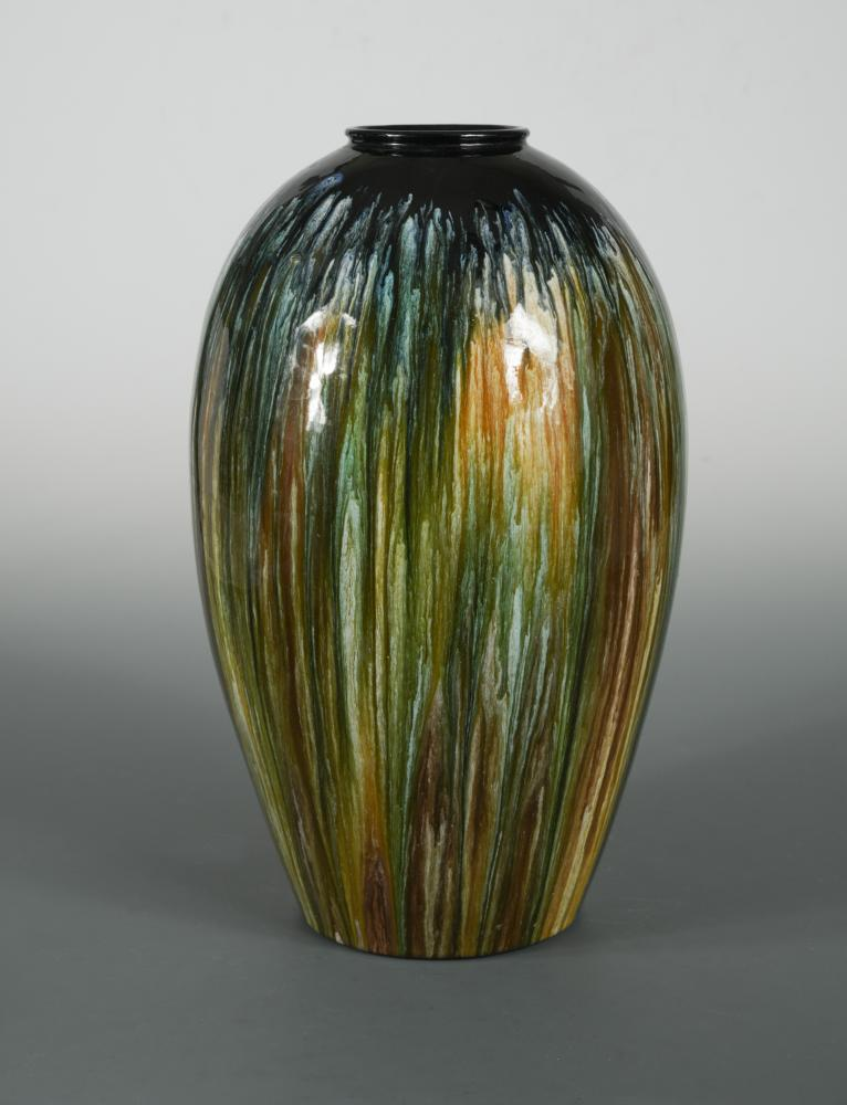 Lot 19 - A large Bretby Art Pottery vase, possibly designed by Dr Christopher Dresser, of ovoid form with