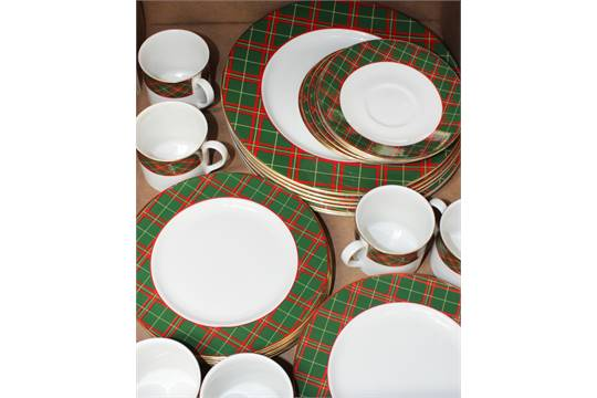 Previous  sc 1 st  The Saleroom & Royal Doulton u0027Tartanu0027 tea and dinner set comprising six cups six ...