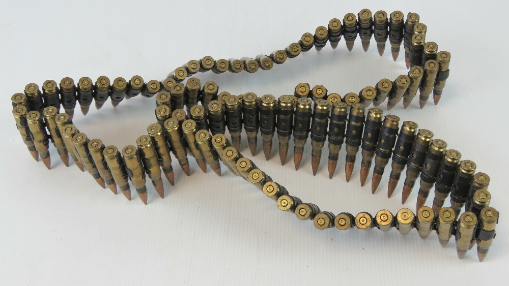 Lot 22 - A belt of 100 inert bullets with headstamp RG 03 L42AI.