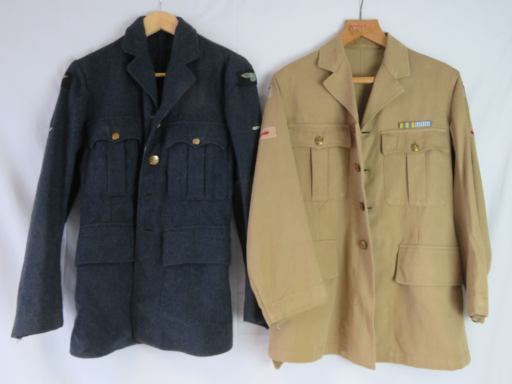 Lot 16 - Two Royal Airforce Pilots tunics, one blue and one Tropic,