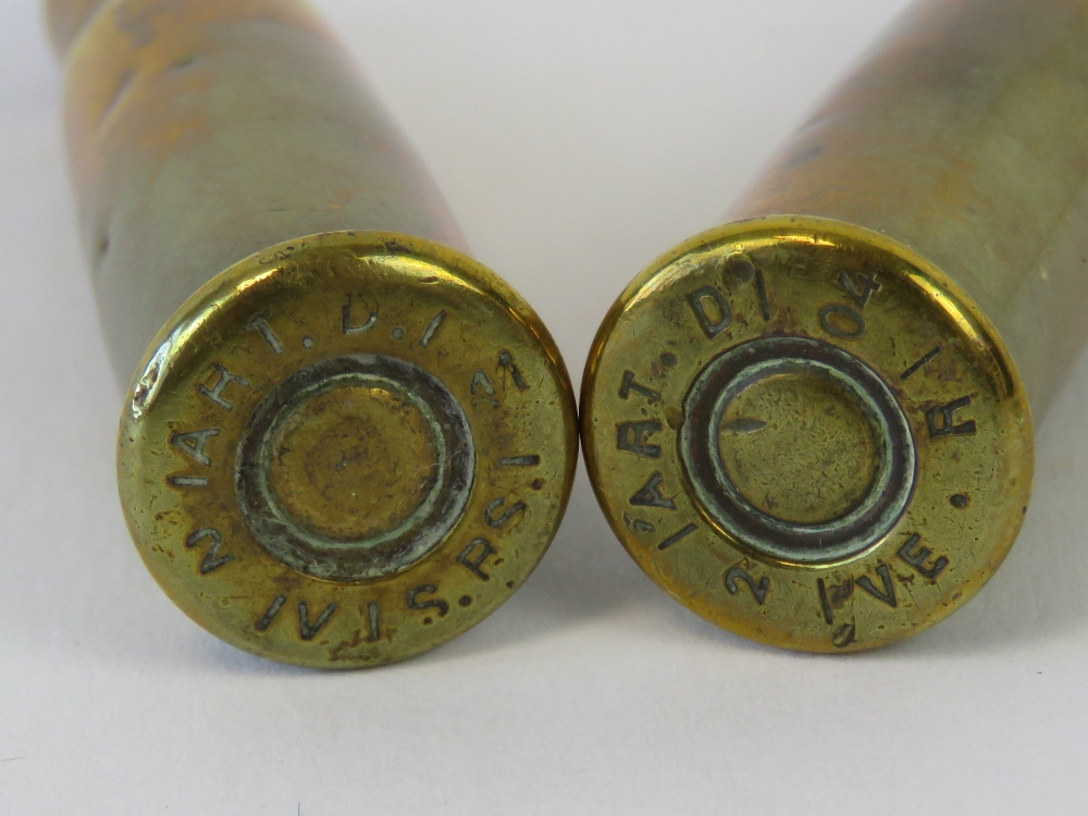 Lot 34 - Trench art; a pair of WWI French Lebel Rifle rounds,