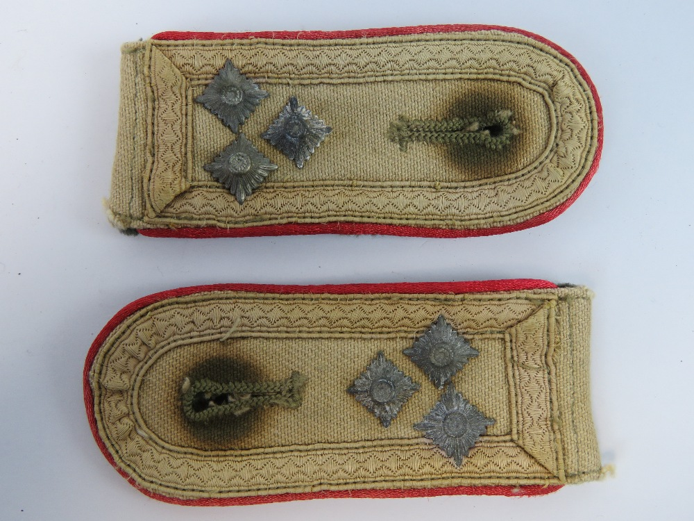 Lot 12 - A pair of WWII German Afrika Corp NCO epaulettes.