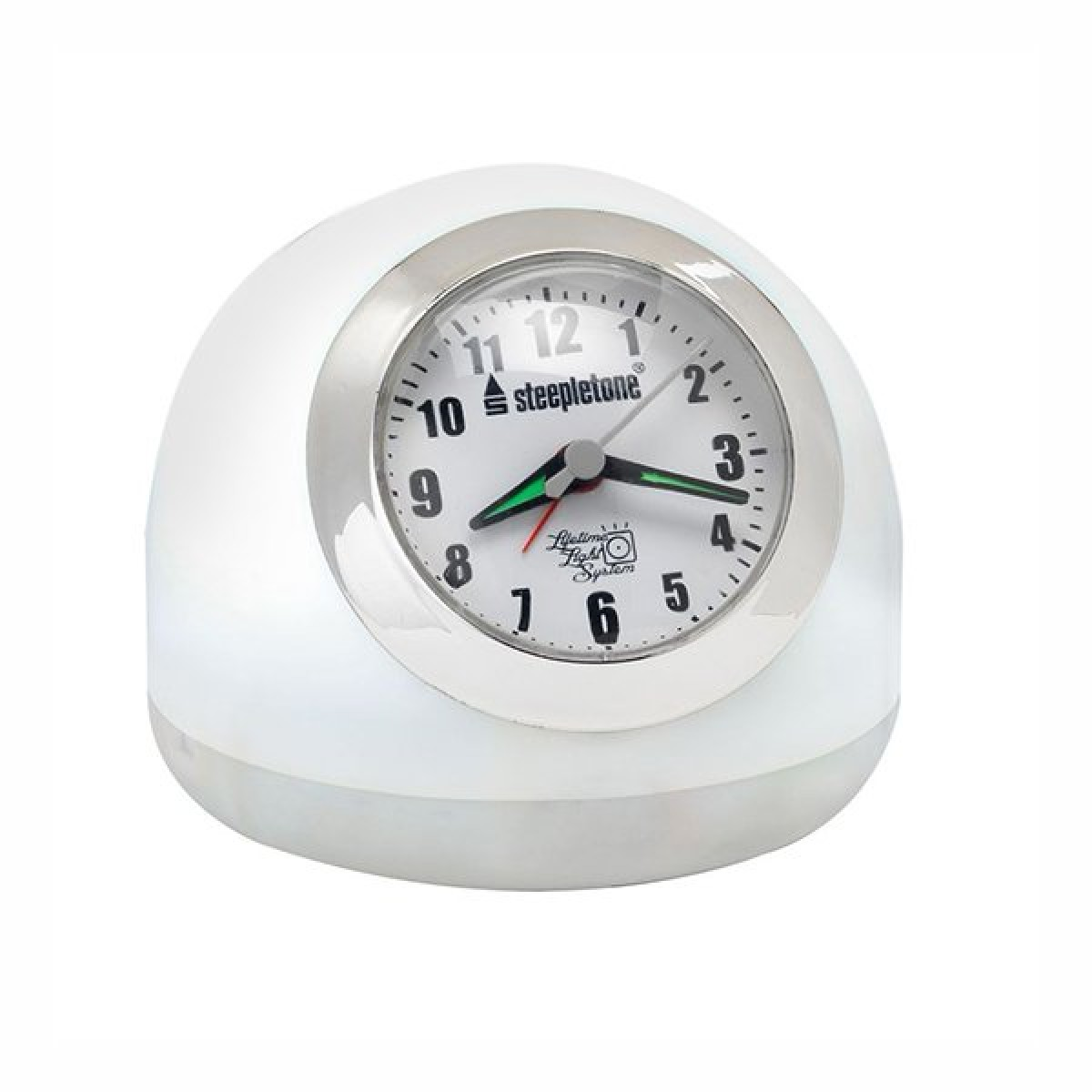 Lot 16170 - V Brand New LED Touch Controlled Clock Alarm With Radio & Touch Control White & Mood Lighting (Radio