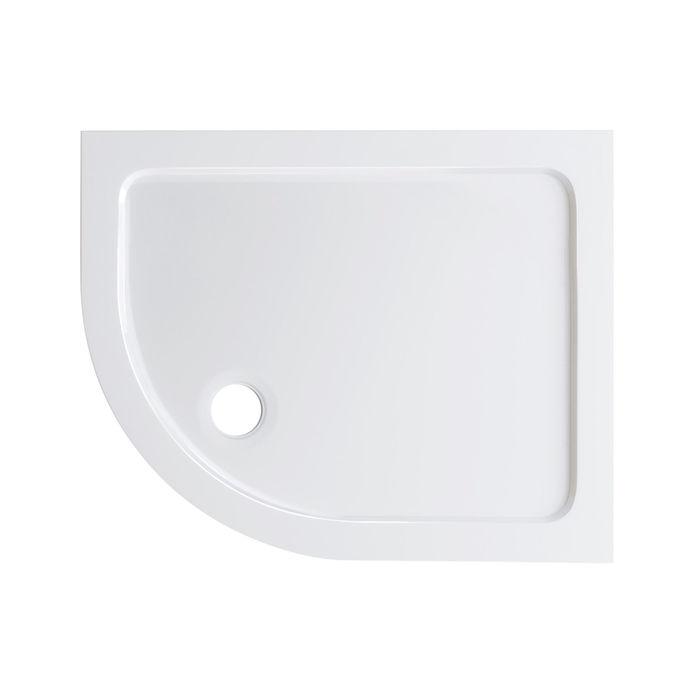 Lot 27 - (AH218) 1000x800mm Offset Quadrant Ultraslim Stone Shower Tray - Left. Low profile ultra slim design