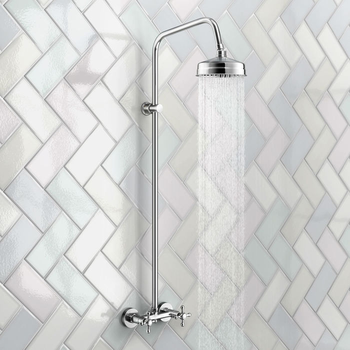 Lot 18 - (TS211) Traditional Exposed Shower Medium Head. Exposed design makes for a statement piece