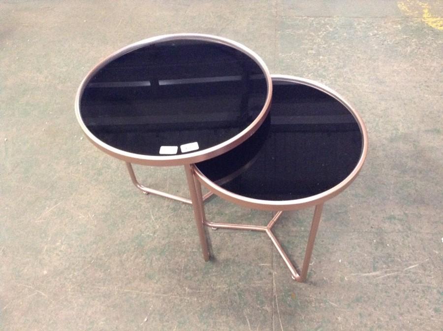 Mercury Row,Nichole 2 Piece Nest of Tables Colour
