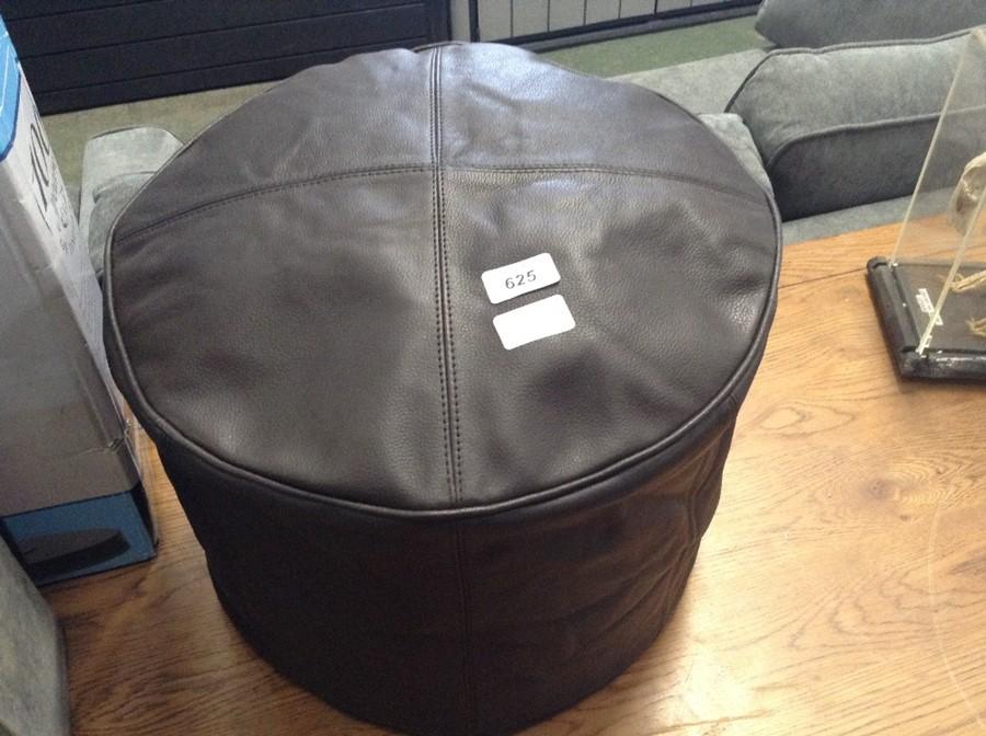 Borough Wharf,Cogbill Leather Pouffe RRP -£103.99(
