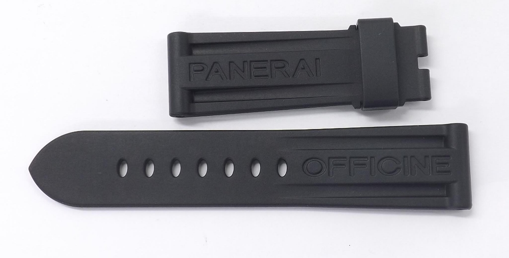 Lot 272 - Panerai rubber wristwatch strap, 24-22mm (new)