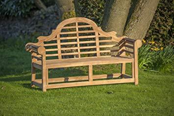 Lot 31897 - V Brand New Teak - Solid Teak Lutyens Style Marlborough Bench Made From Grade A Plantation Teak (ISP
