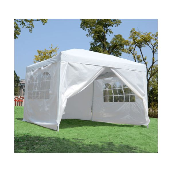 Lot 32044 - V Brand New DG Pop Up Gazebo With Side Panels 3m x 3m ISP £119.99 (Gala Tent)