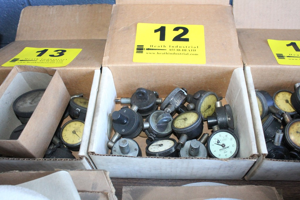Lot 12 - ASSORTED DIAL INDICATOR GAGES IN BOX