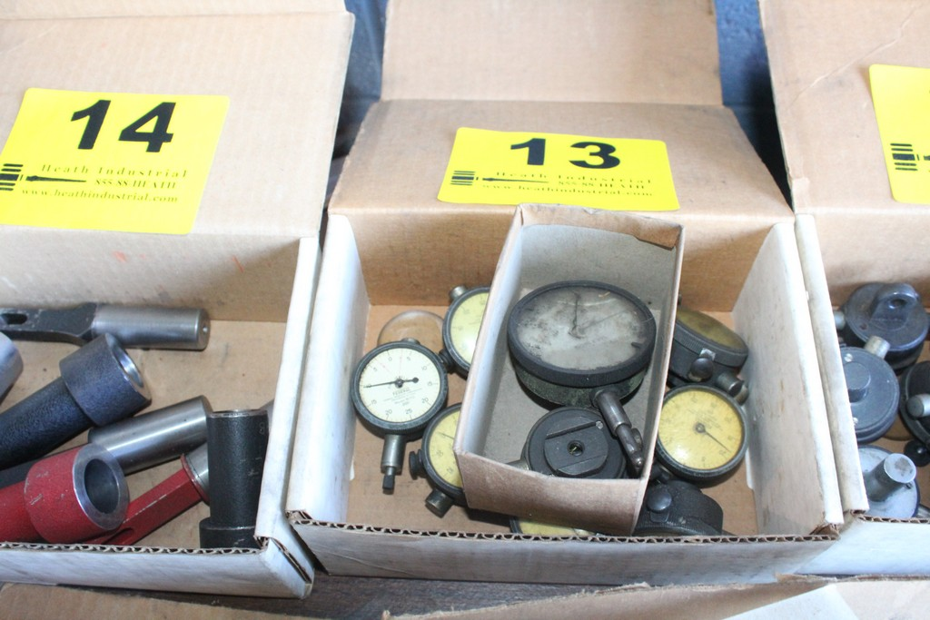Lot 13 - ASSORTED DIAL INDICATOR GAGES IN BOX