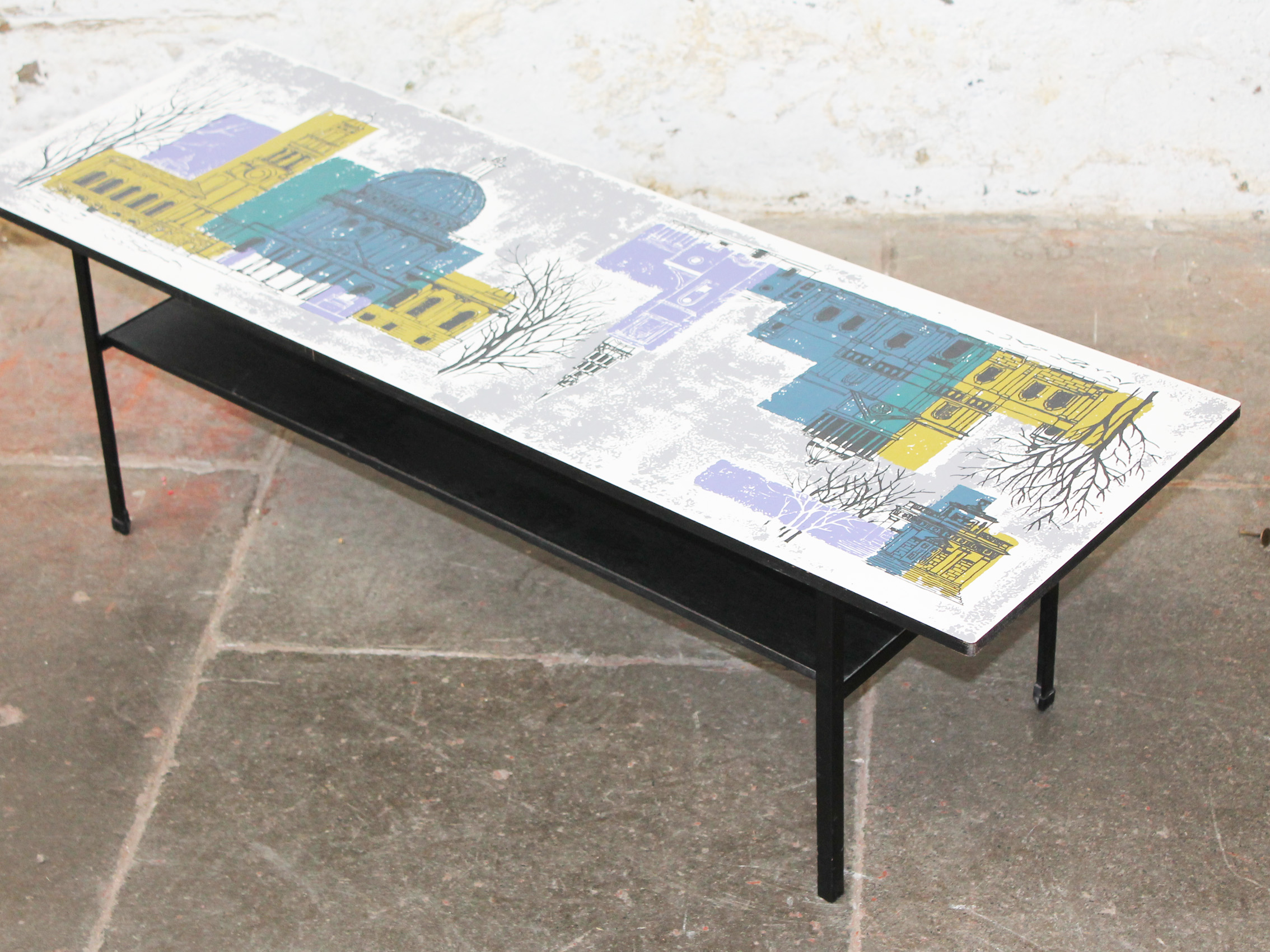 A john piper london scenes design coffee table for terence for Coffee table 80 x 50