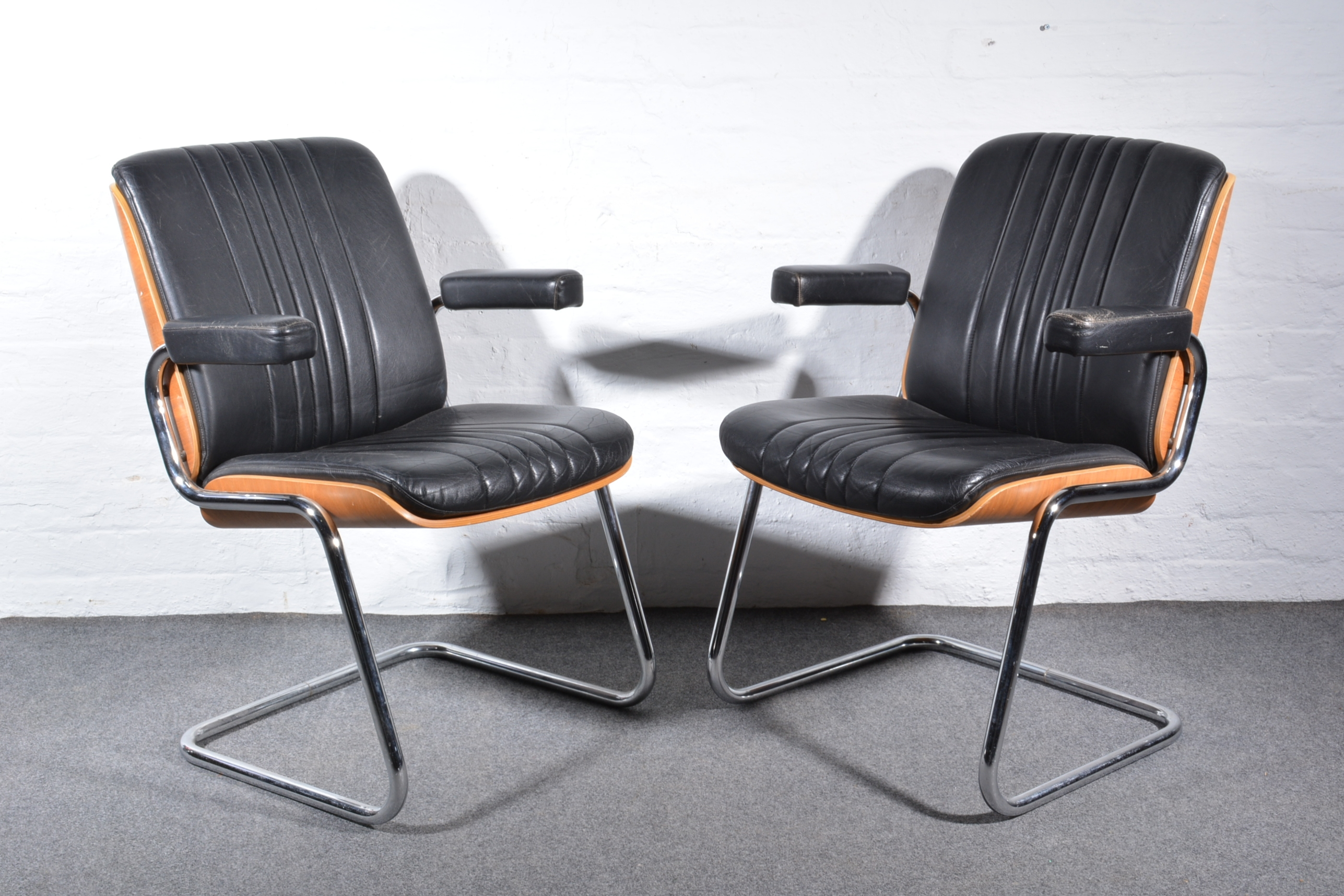Lot 195 Martin Stoll For Giroflex Two Cantilever Office Chairs Circa 1980