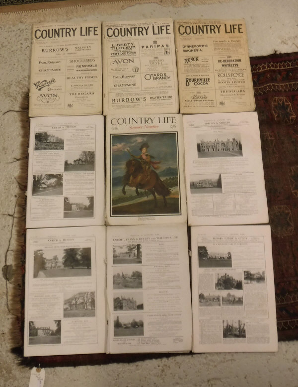 Lot 823A - A collection of Country Life magazines dated 1921