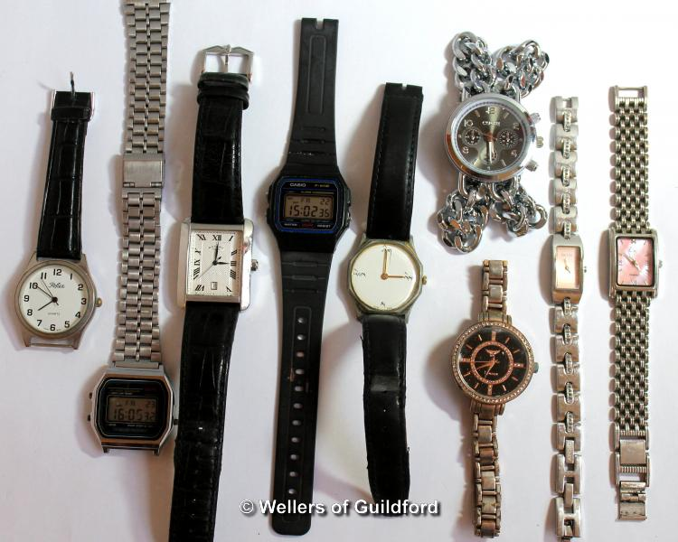 Lot 5020 - *Selection of nine mixed wristwatches, including Rotary, Casio (Lot subject to VAT)