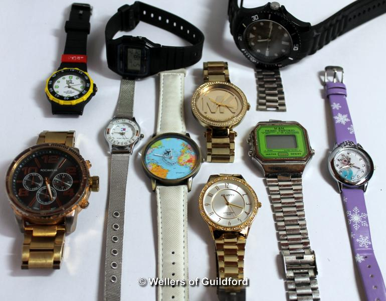 Lot 5014 - *Selection of ten mixed wristwatches, including Michael Kors, Casio (Lot subject to VAT)