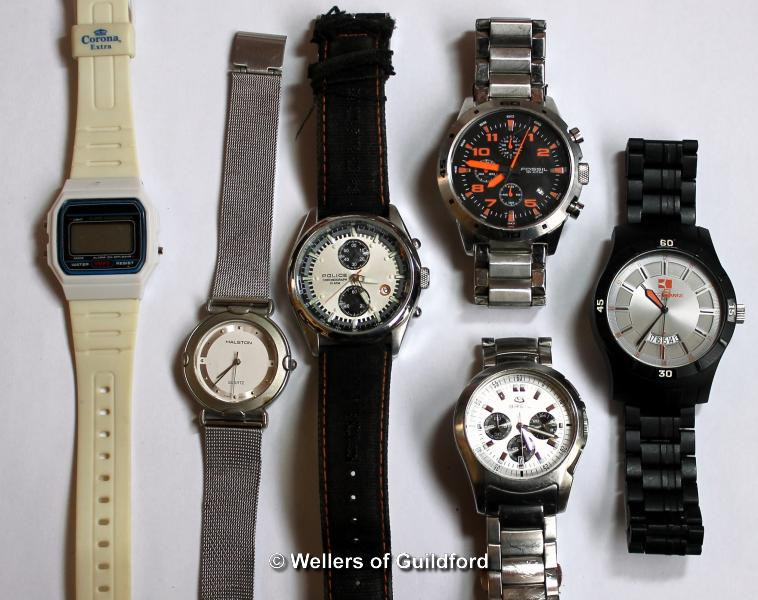 Lot 5036 - *Selection of six wristwatches, including Fossil, Breil (Lot subject to VAT)