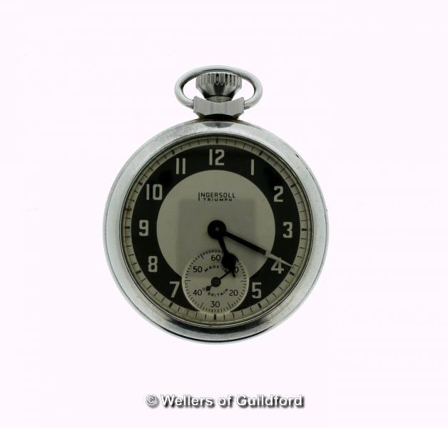 Lot 5023 - Ingersoll Triumph pocket watch