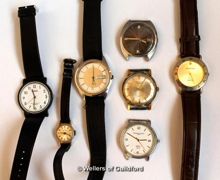 Lot 5024 - Selection of three watch faces, including a Seiko, three gentlemen's wristwatches, including a
