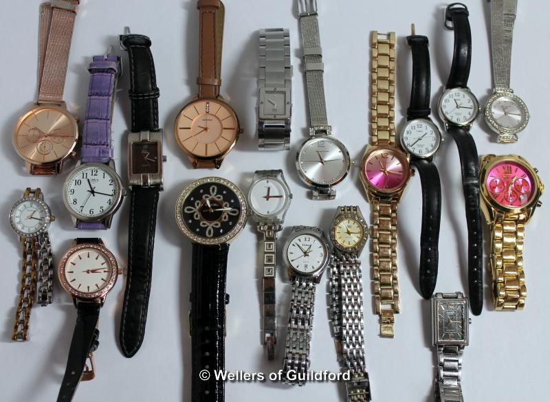 Lot 5013 - *Selection of eighteen ladies' wristwatches, including Casio, Timex (Lot subject to VAT)