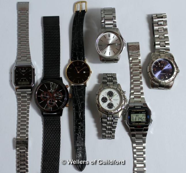 Lot 5011 - *Selection of seven gentlemen's wristwatches, including Casio, Sekonda (Lot subject to VAT)
