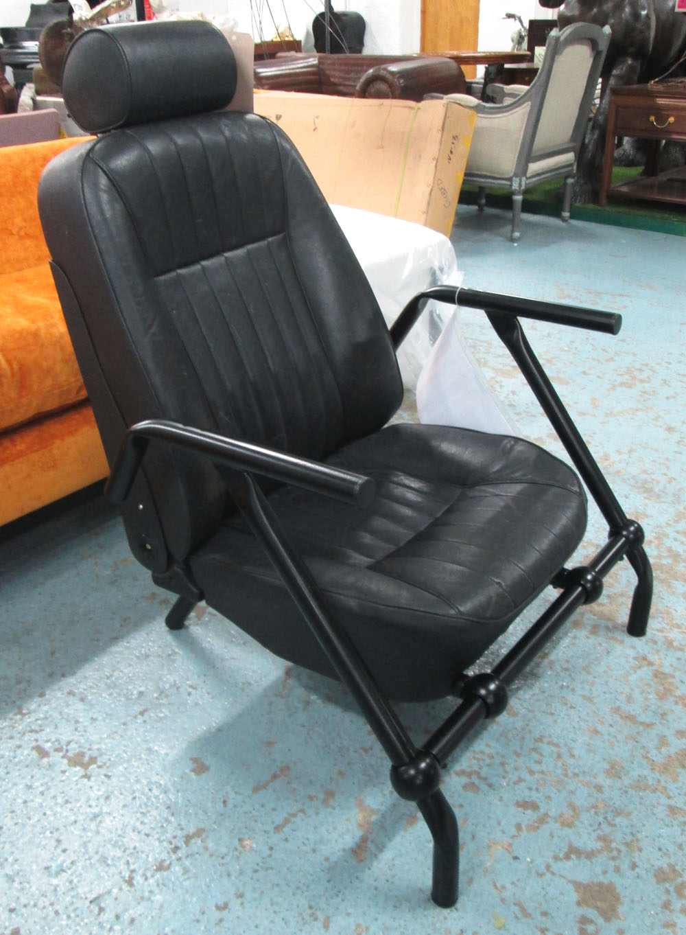 JOE HALL ARMCHAIR car seat style inspired by Ron Arad