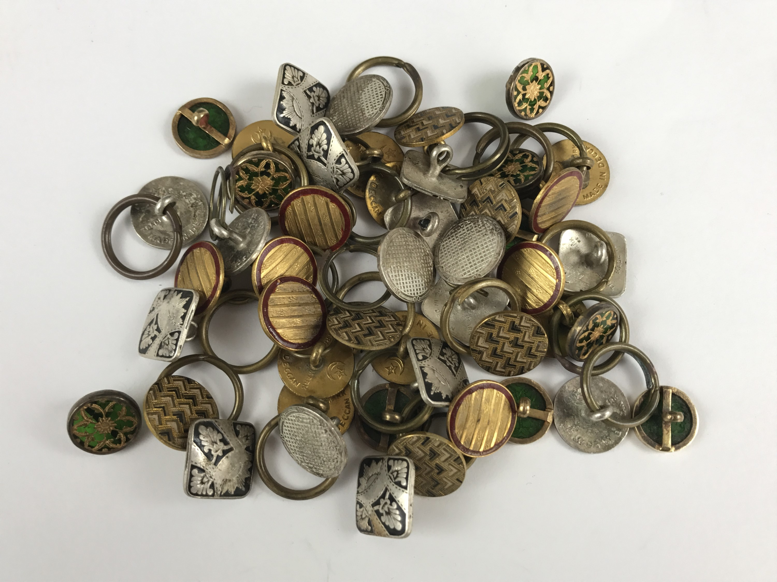 Lot 40 - A number of sets of late 19th / early 20th Century buttons, including eight reticulated silver-