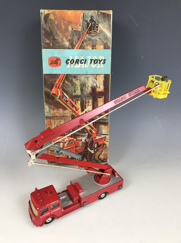 Lot 54 - A Corgi Toys Major 1127 Simon Snorkel Fire Engine, in original carton