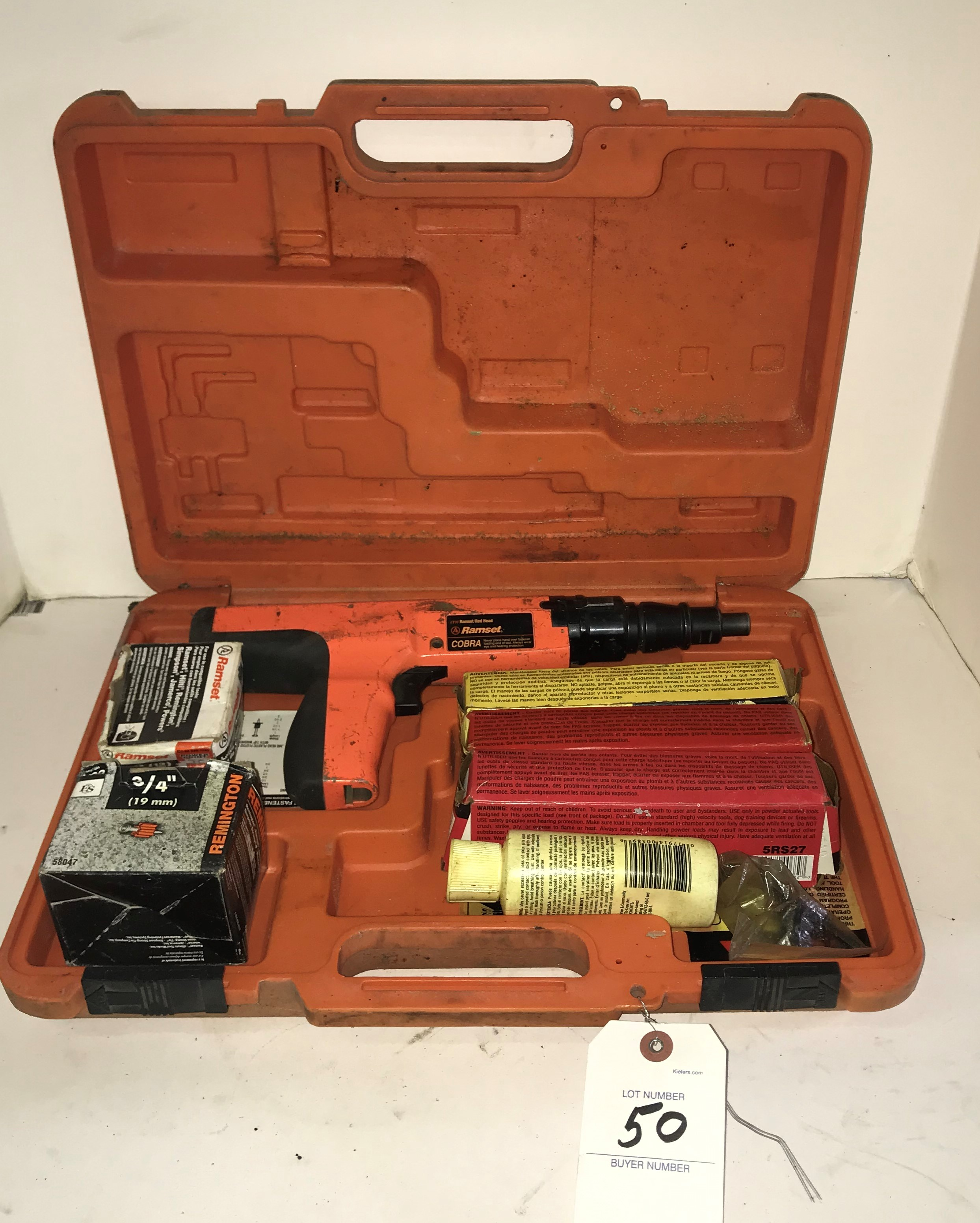 Ramset Cobra Powder Actuated Nail Gun Tool