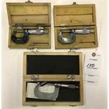 (2) 0-1 & (1) 1-2 Micrometer