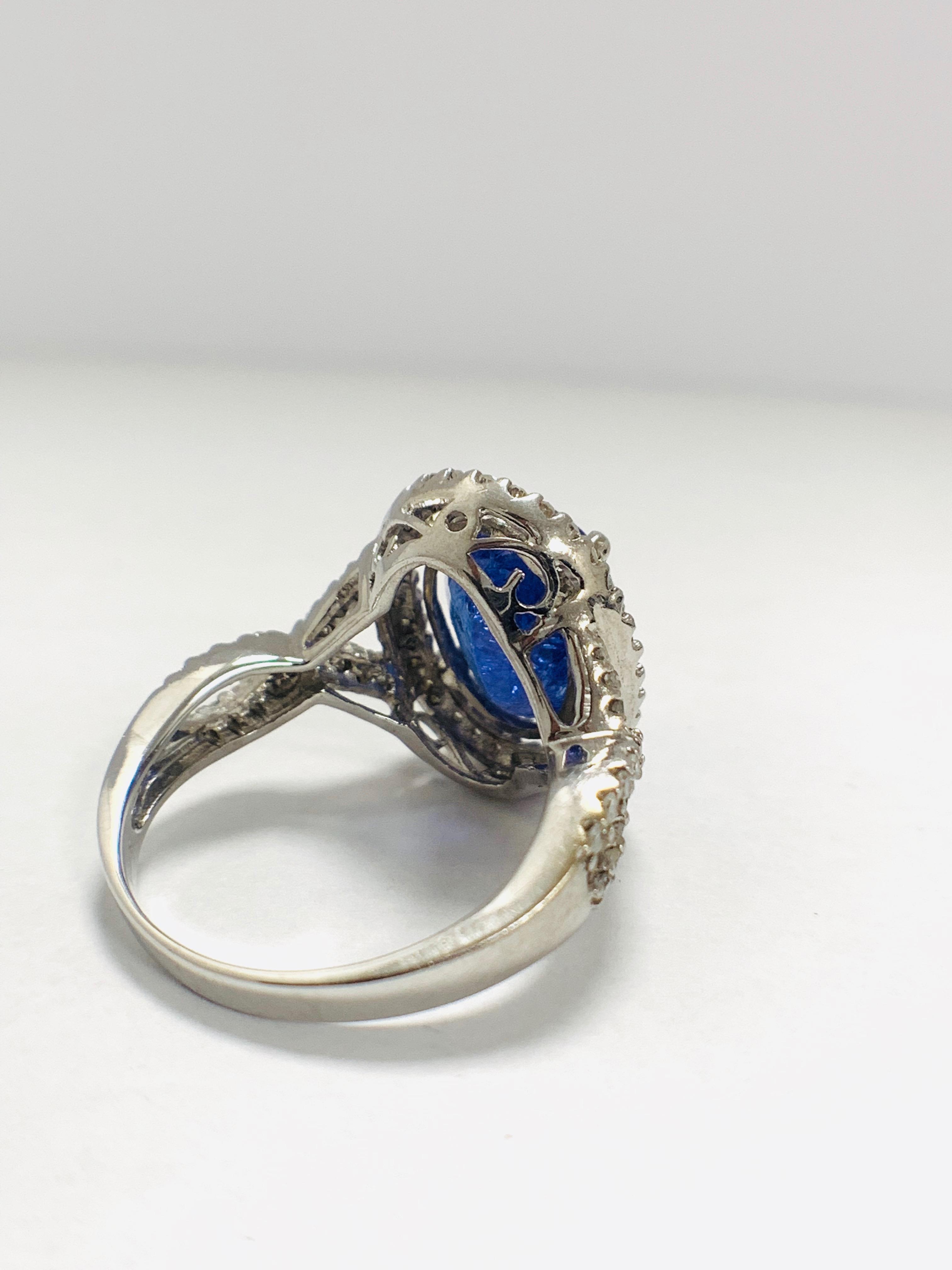 18ct White Gold Tanzanite and Diamond ring - Image 5 of 15