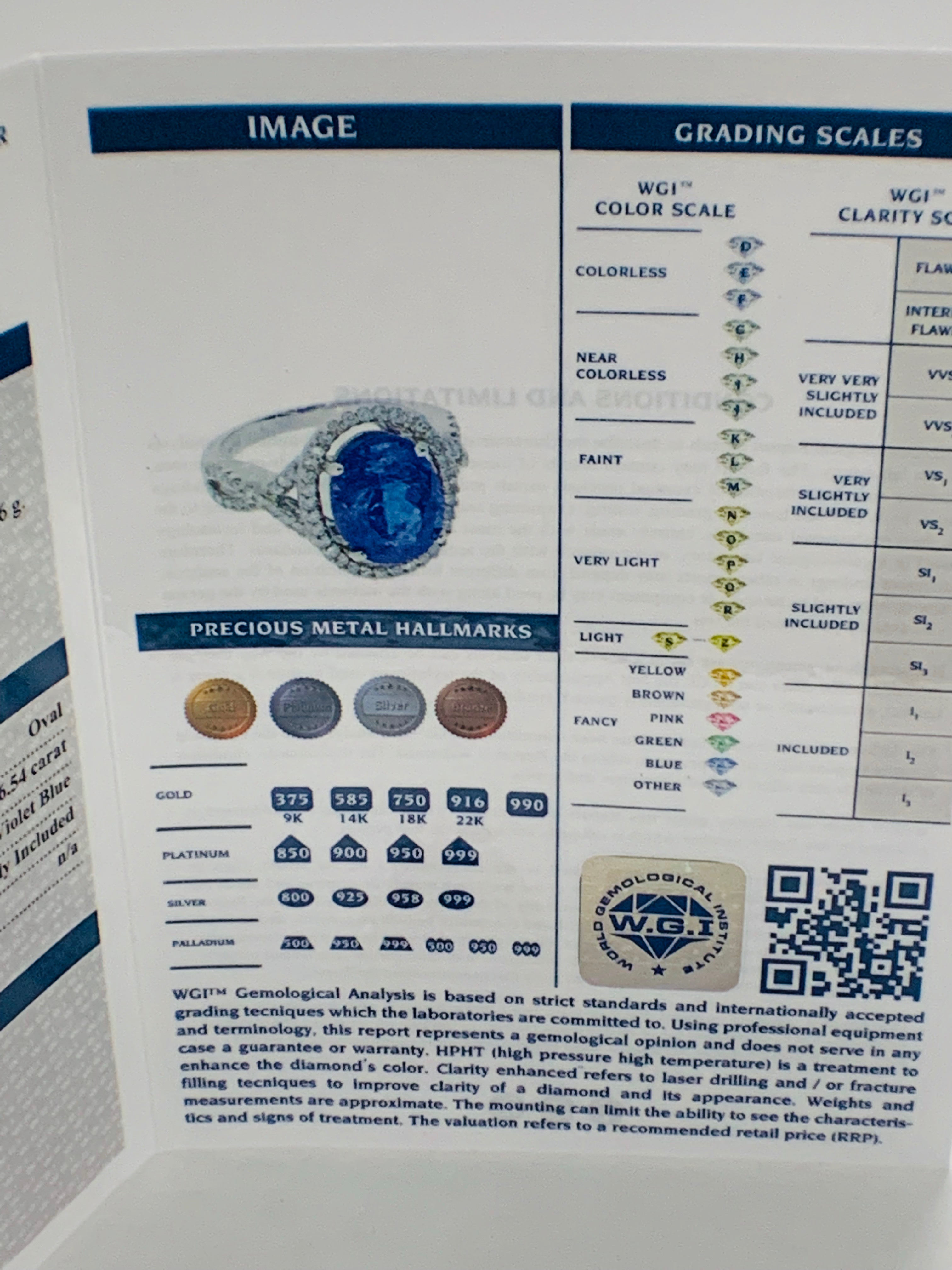 18ct White Gold Tanzanite and Diamond ring - Image 13 of 15