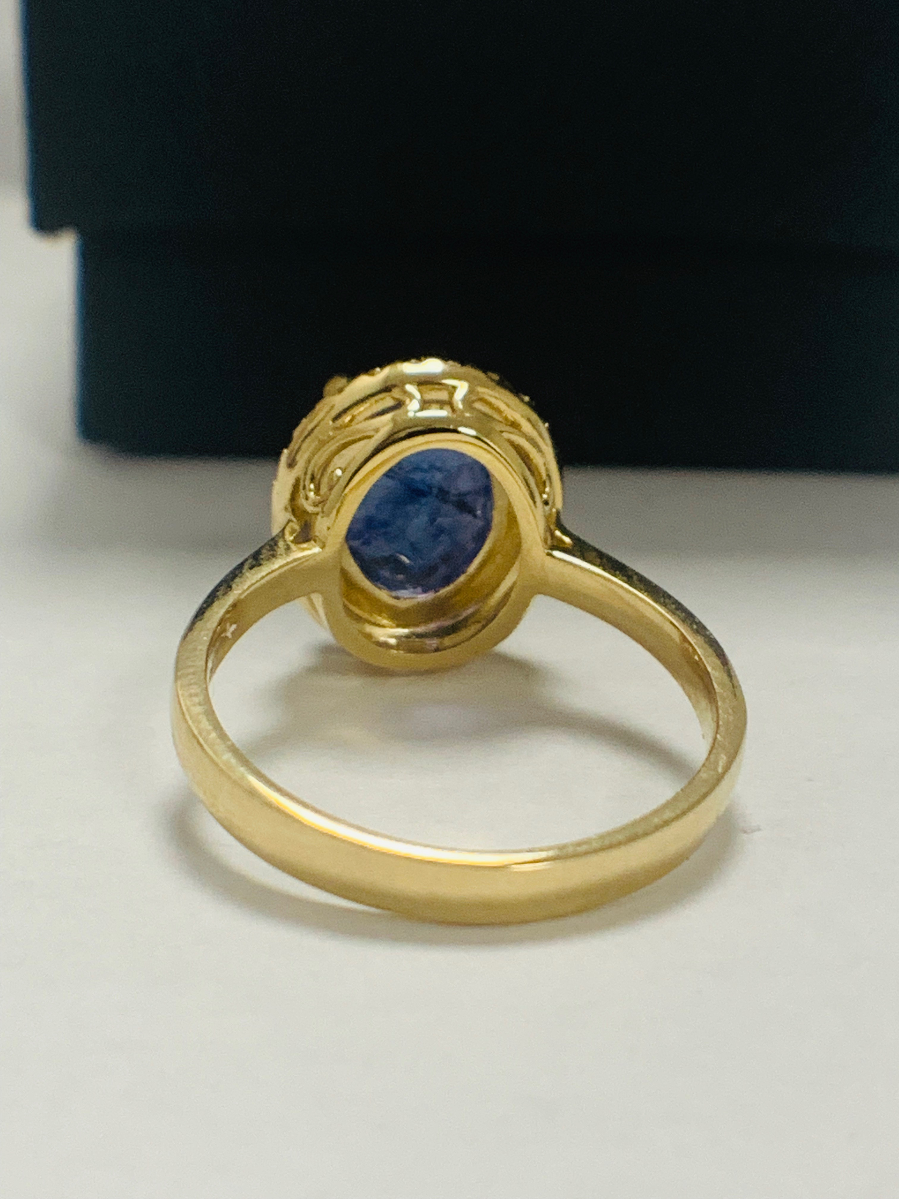 14ct Yellow Gold Tanzanite and Diamond ring - Image 6 of 13