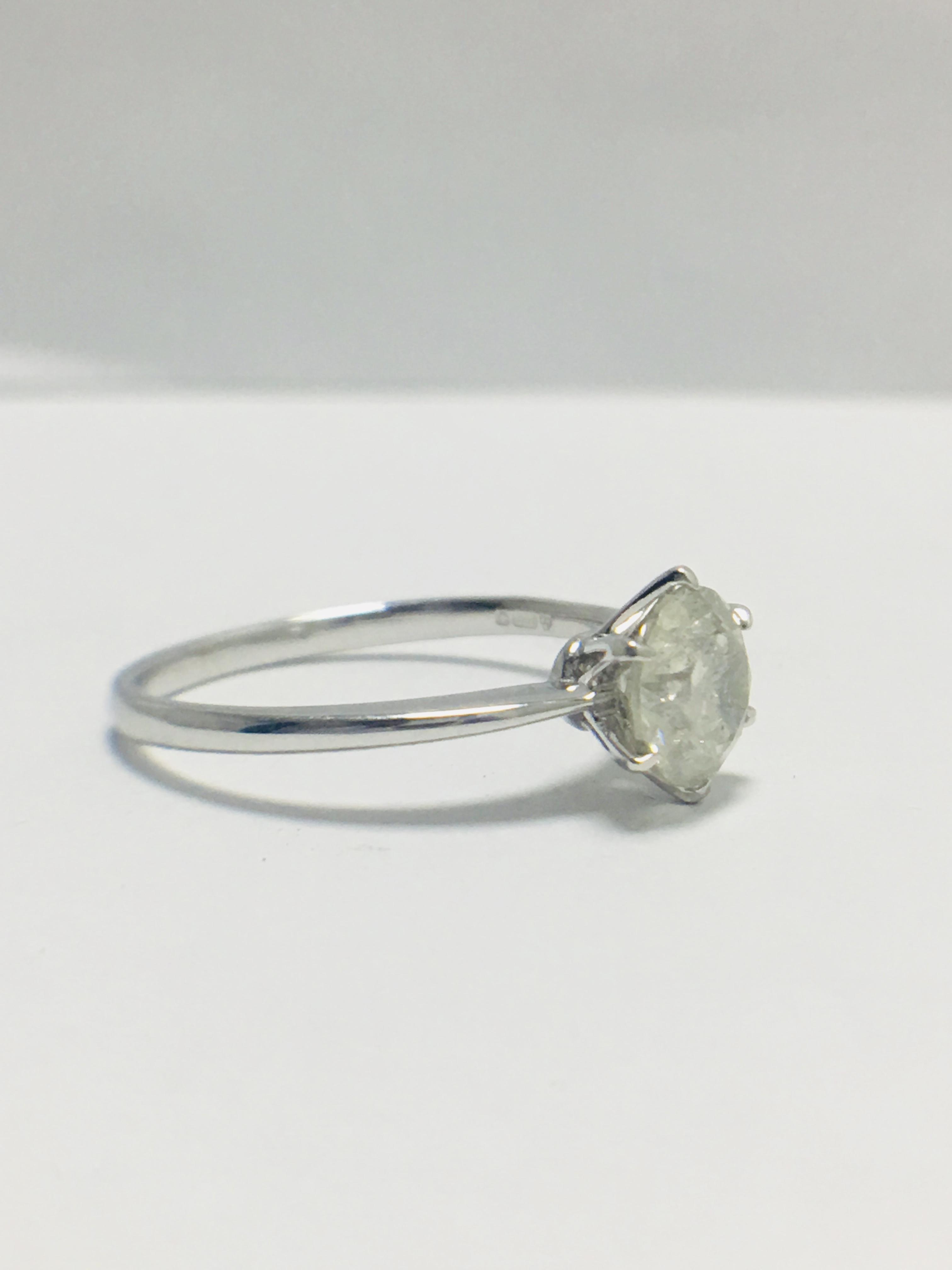 1ct platinum Diamond solitaire ring - Image 7 of 10