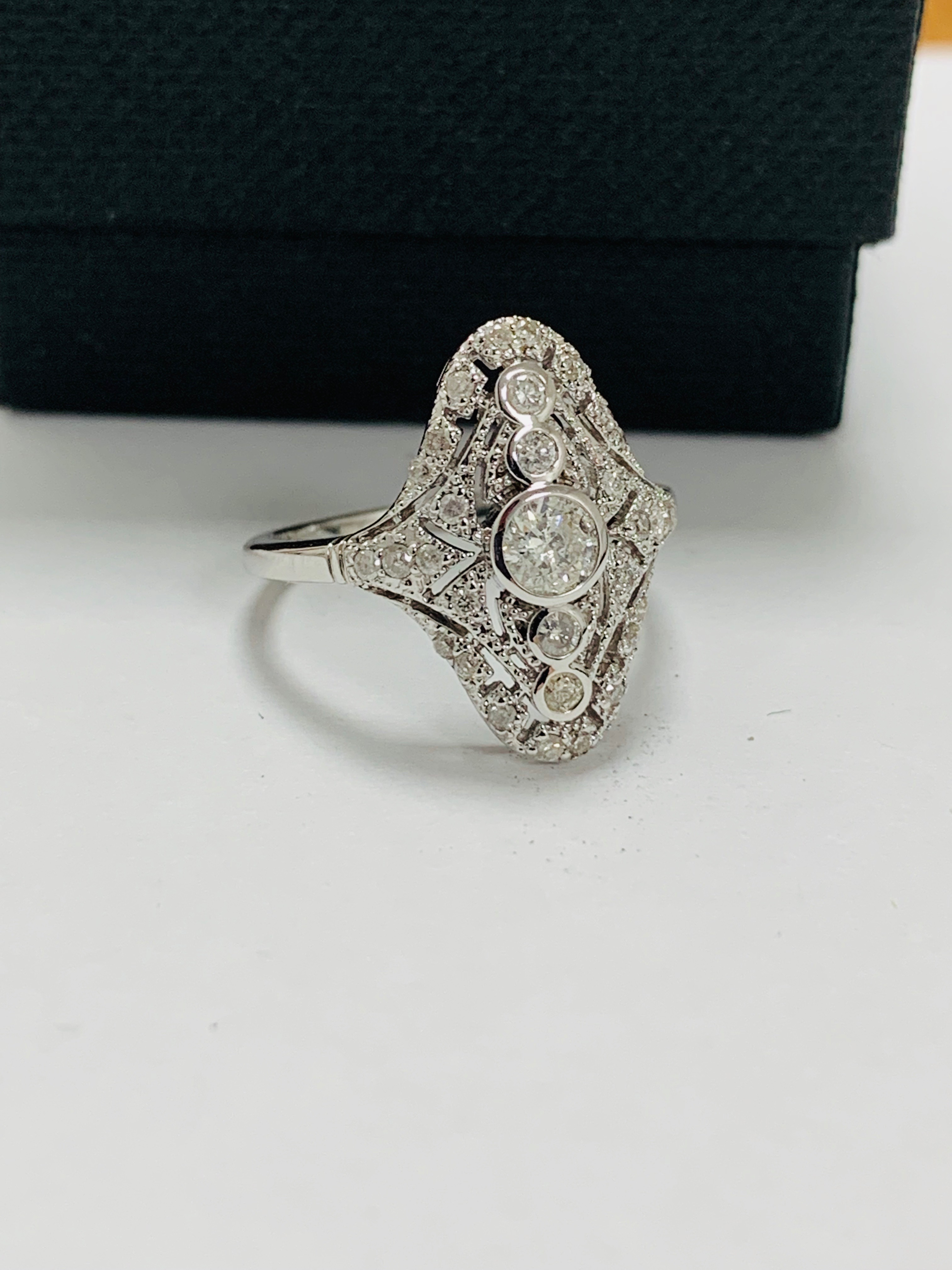 18ct white gold diamond ring. - Image 8 of 11