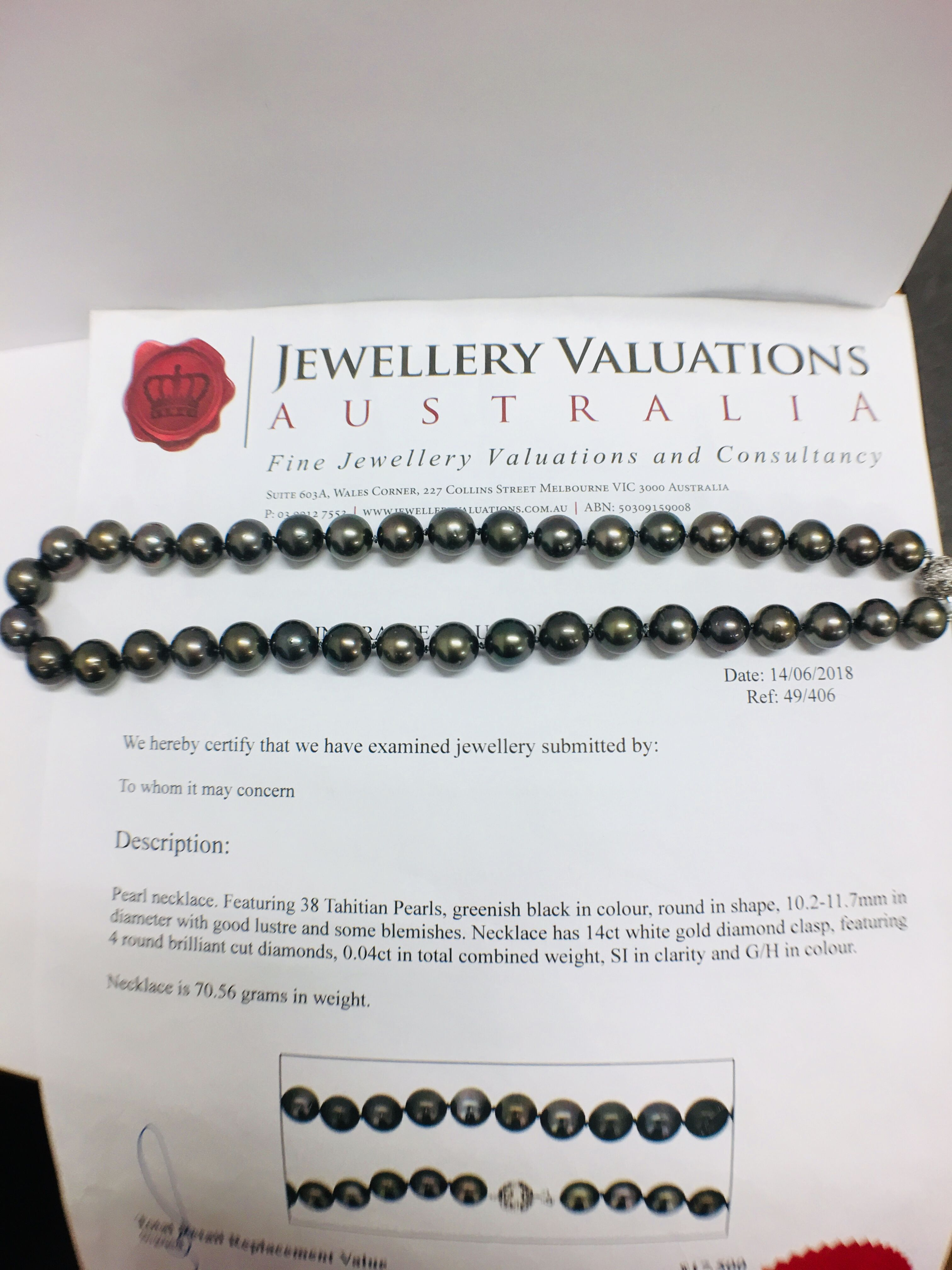 tahitian pearl necklace. - Image 9 of 9