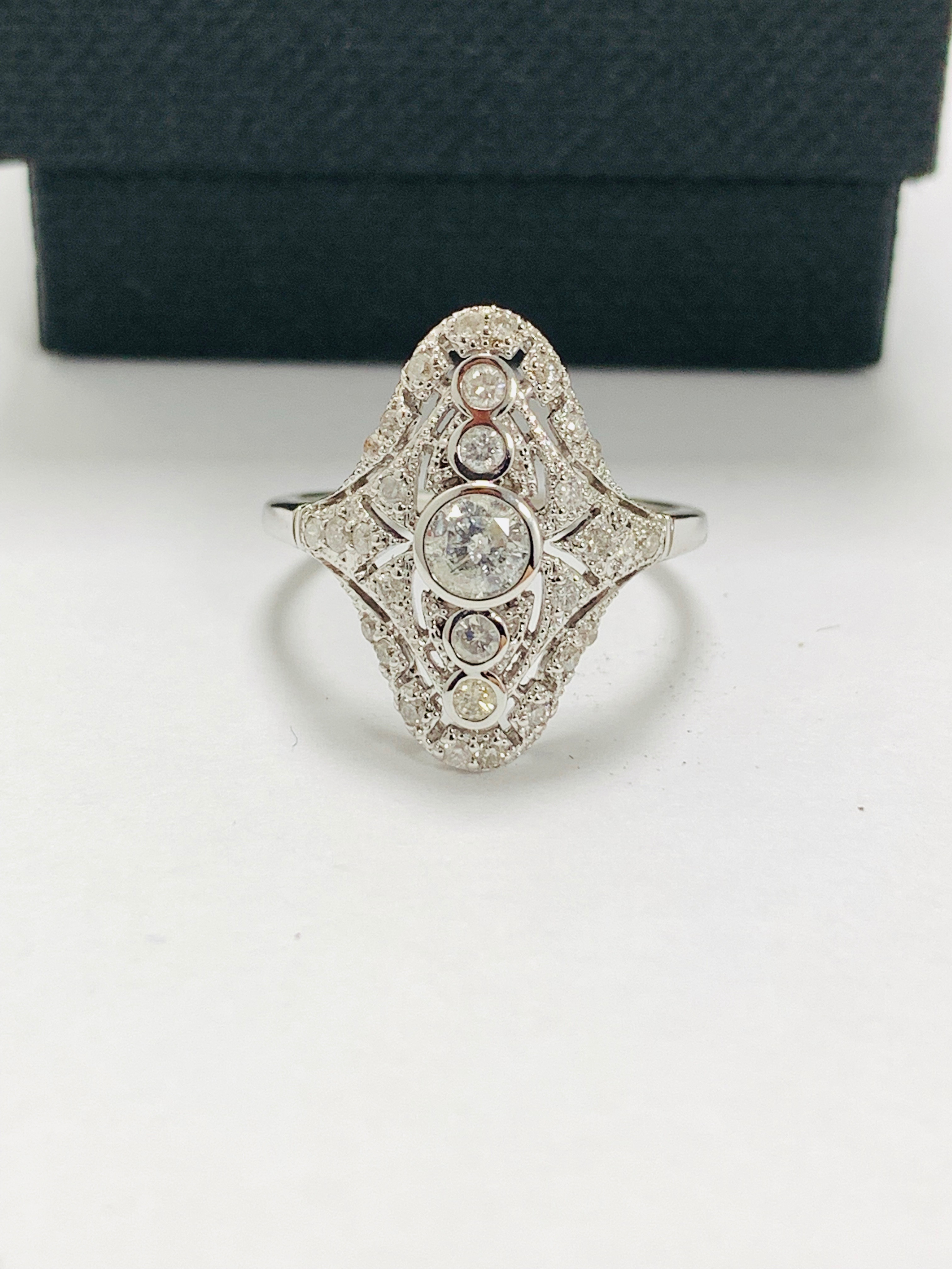 18ct white gold diamond ring.
