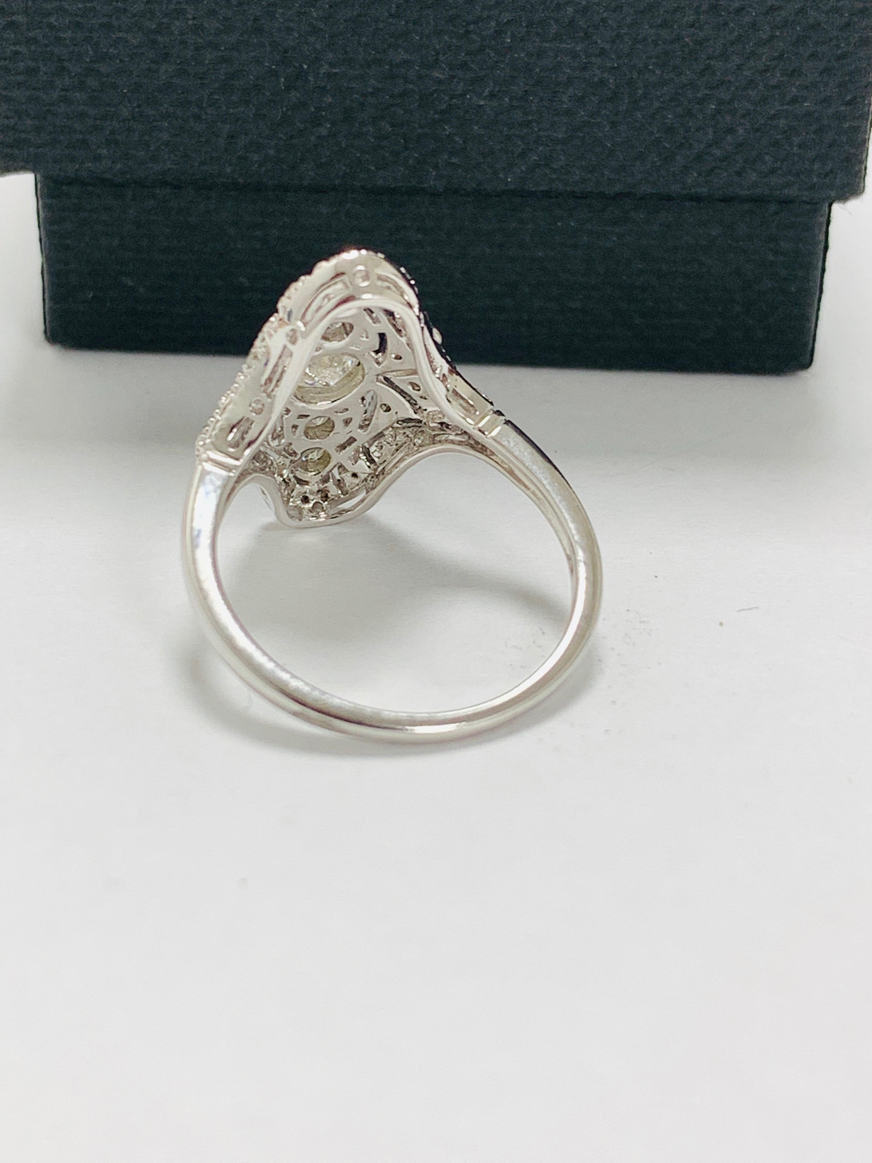 18ct white gold diamond ring. - Image 4 of 11