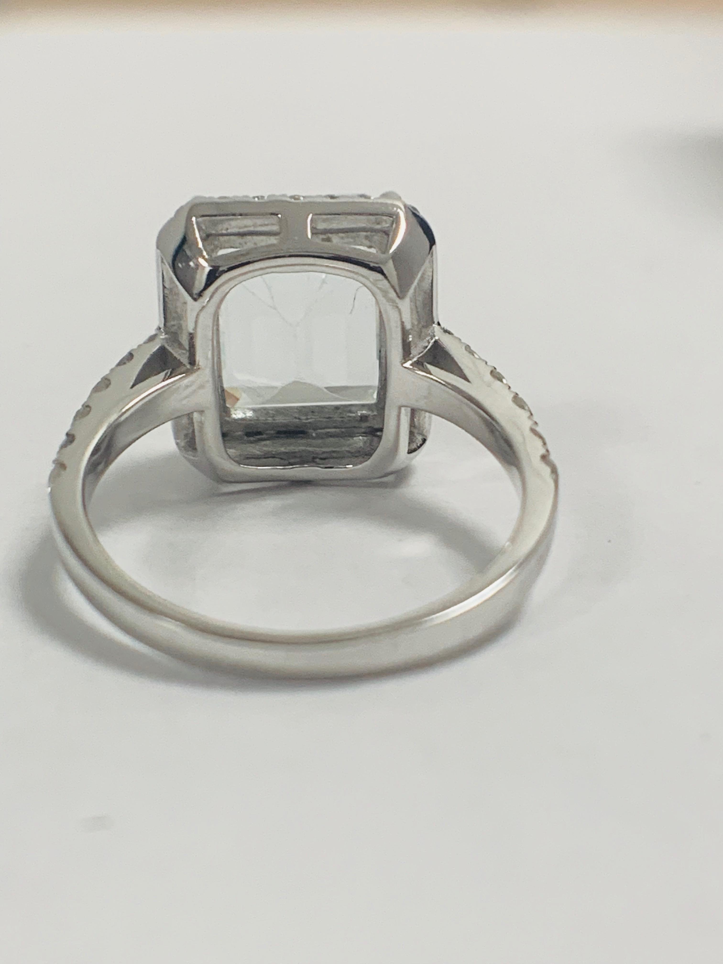 14ct White Gold Aquamarine and Diamond ring - Image 6 of 12
