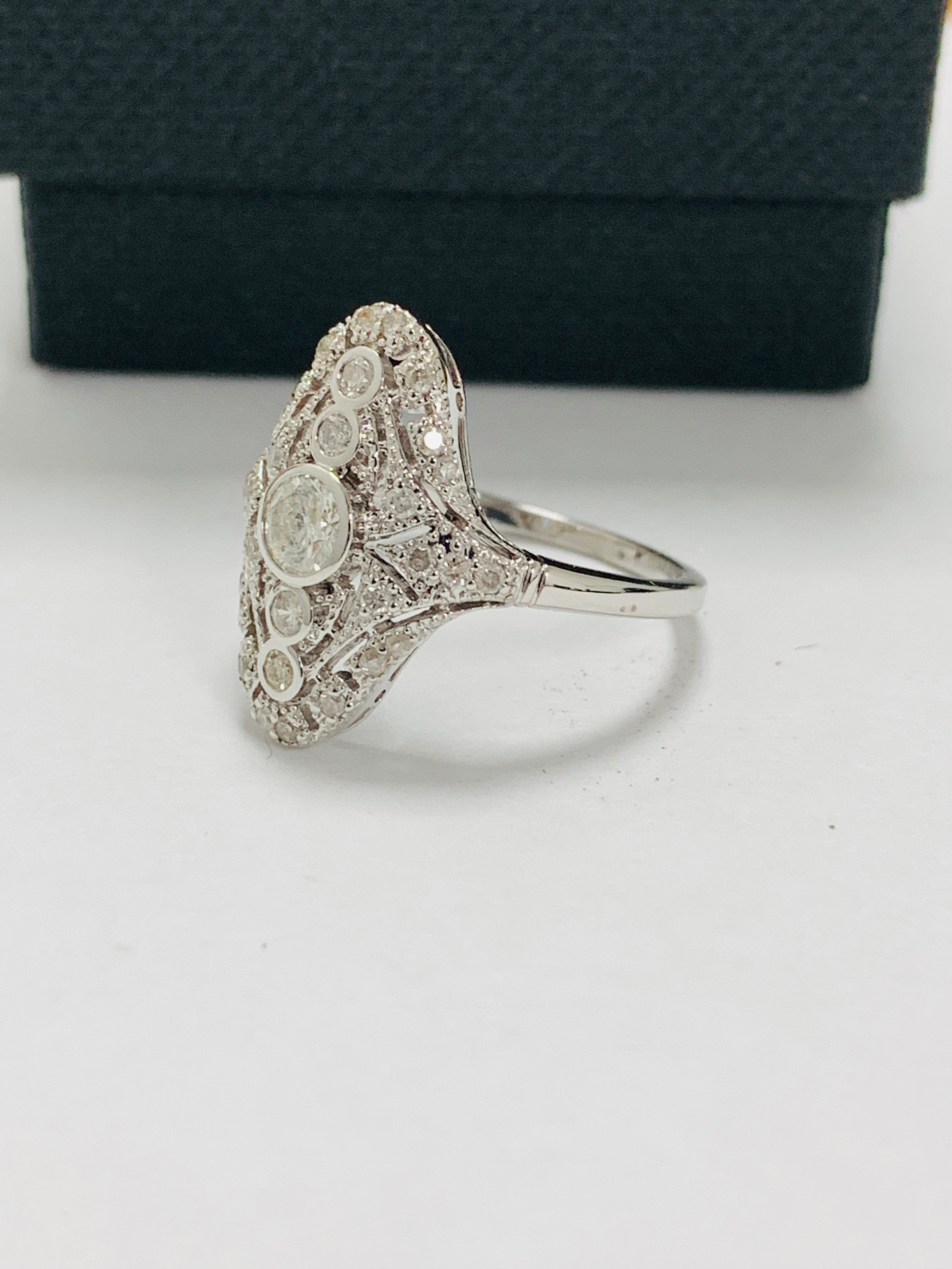 18ct white gold diamond ring. - Image 2 of 11