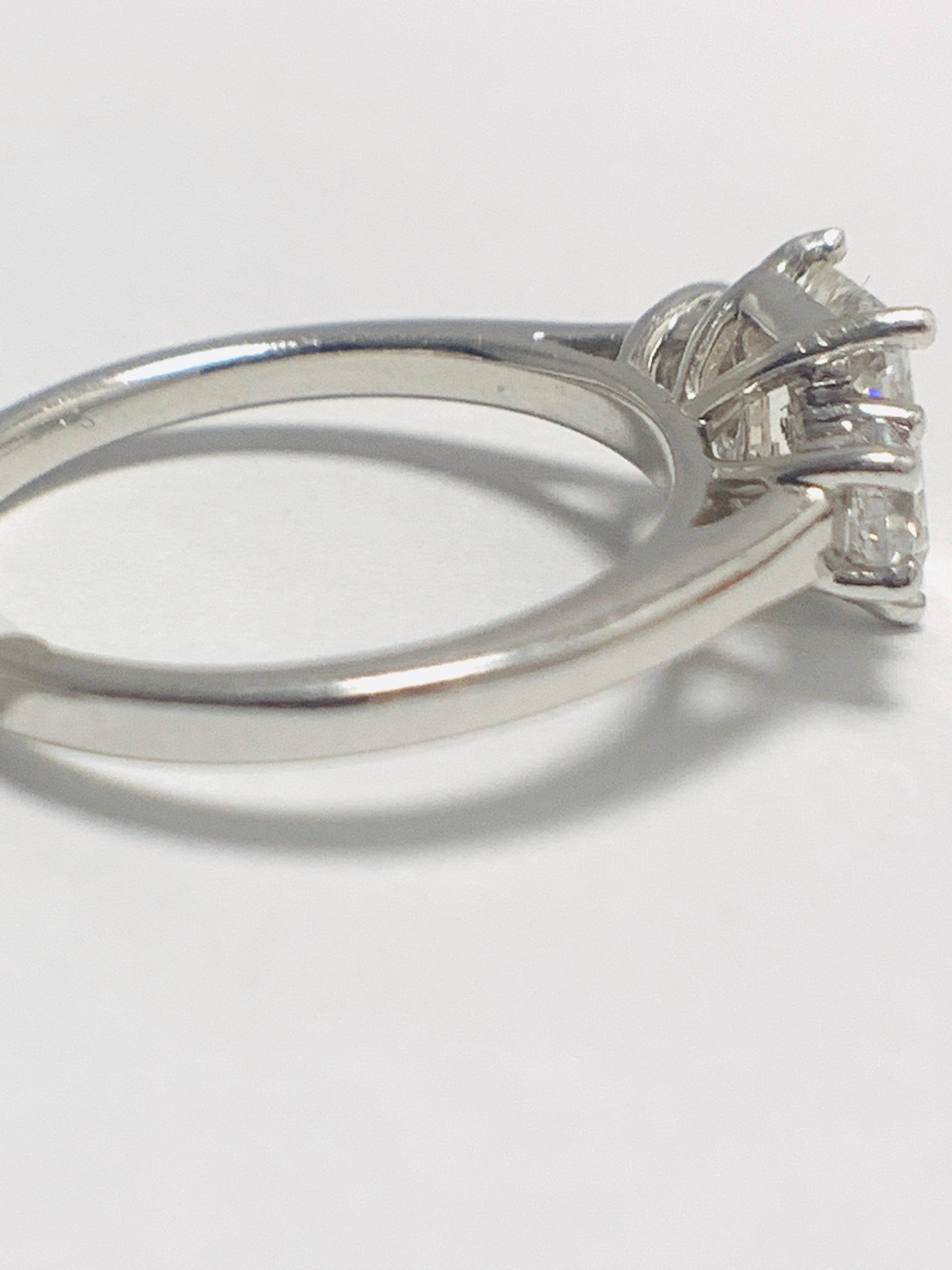 1.50ct trilogy platinum diamond ring - Image 7 of 10