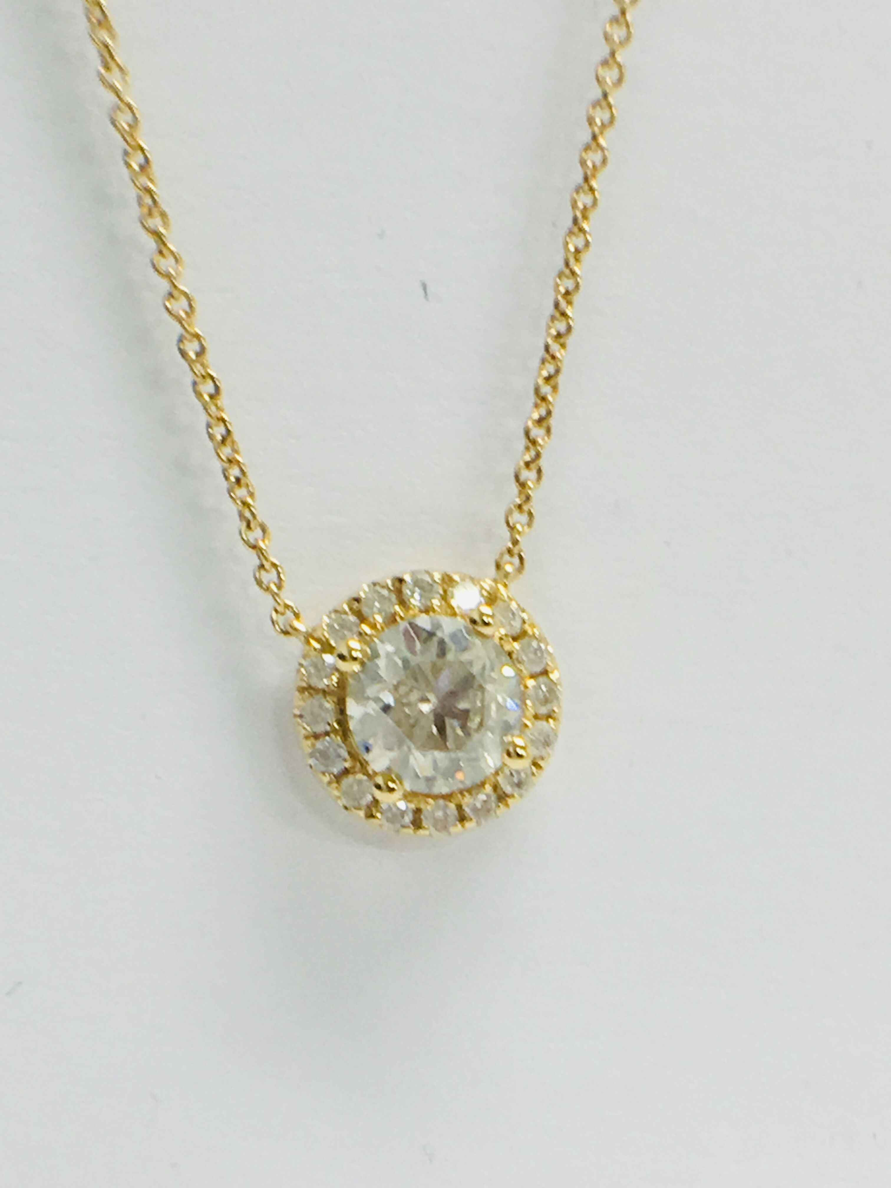18ct yellow gold diamond necklace. tdw.