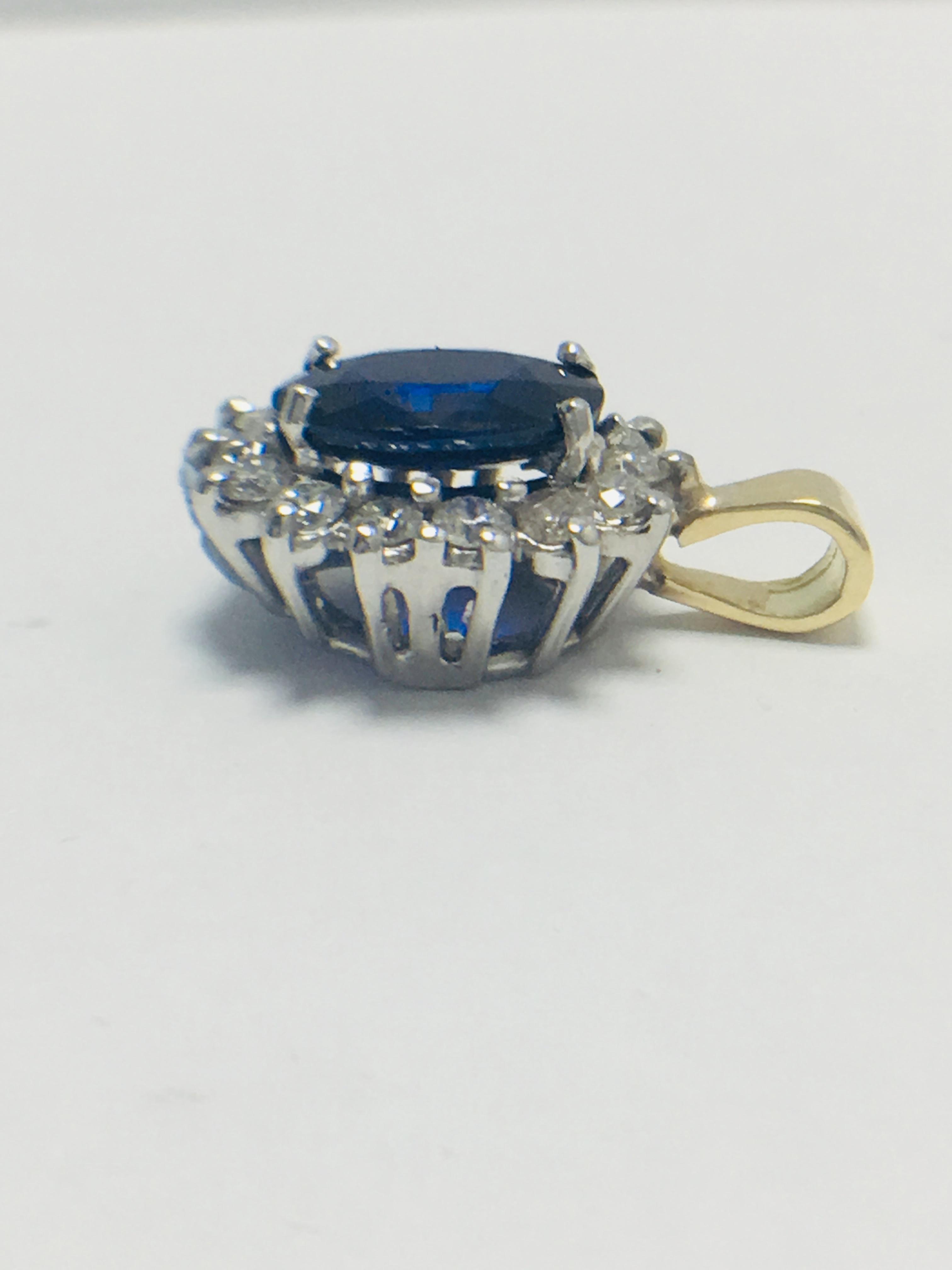 Sapphire and Diamond pendant,18ct gold - Image 3 of 7