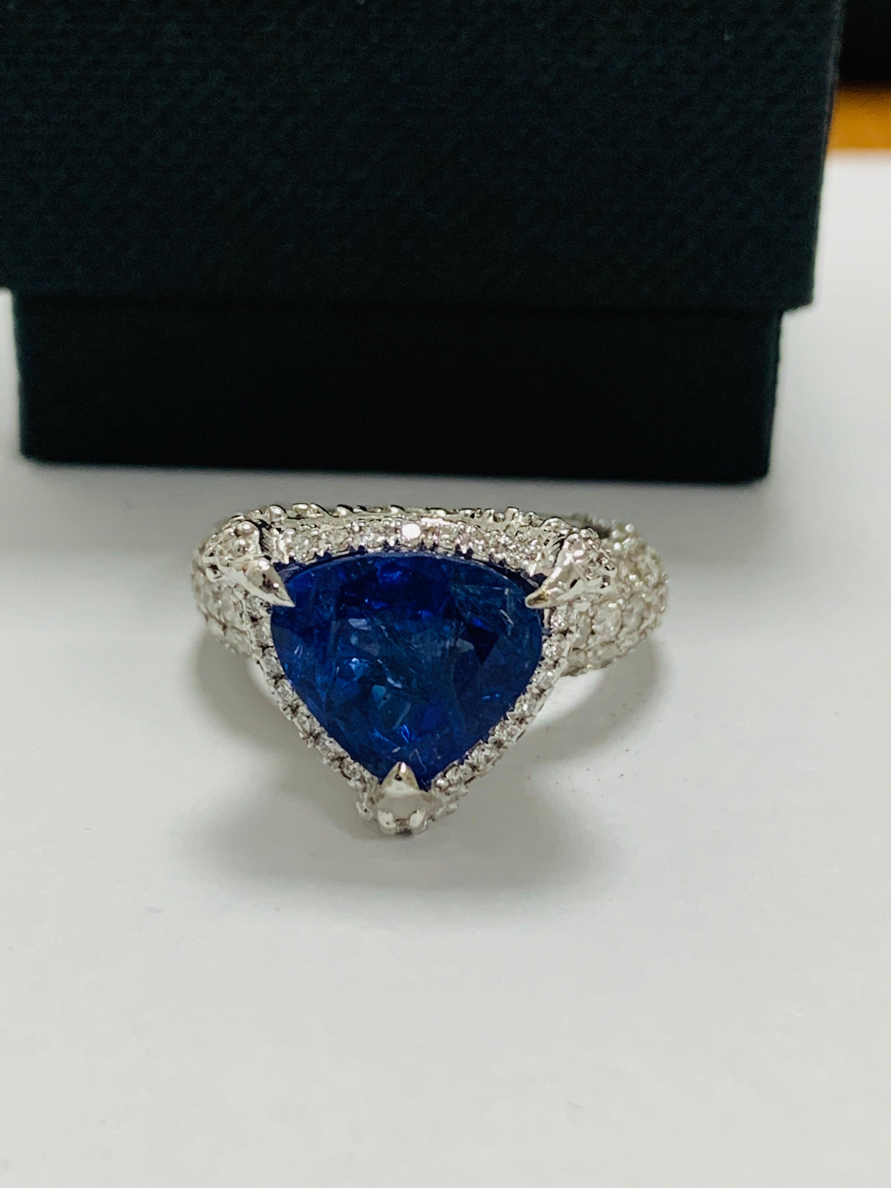 platinum tanzanite ring - Image 11 of 13