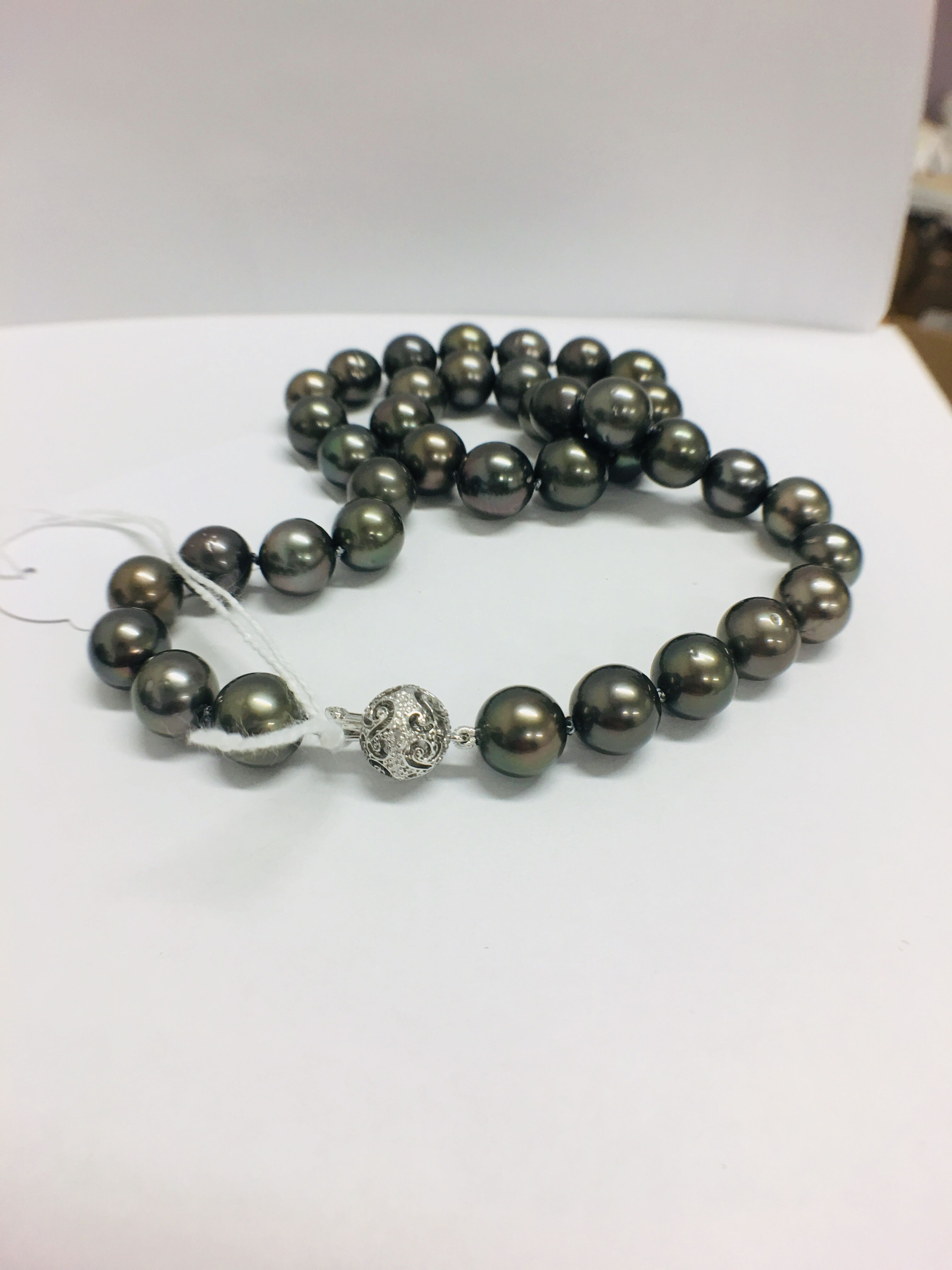 tahitian pearl necklace. - Image 5 of 9