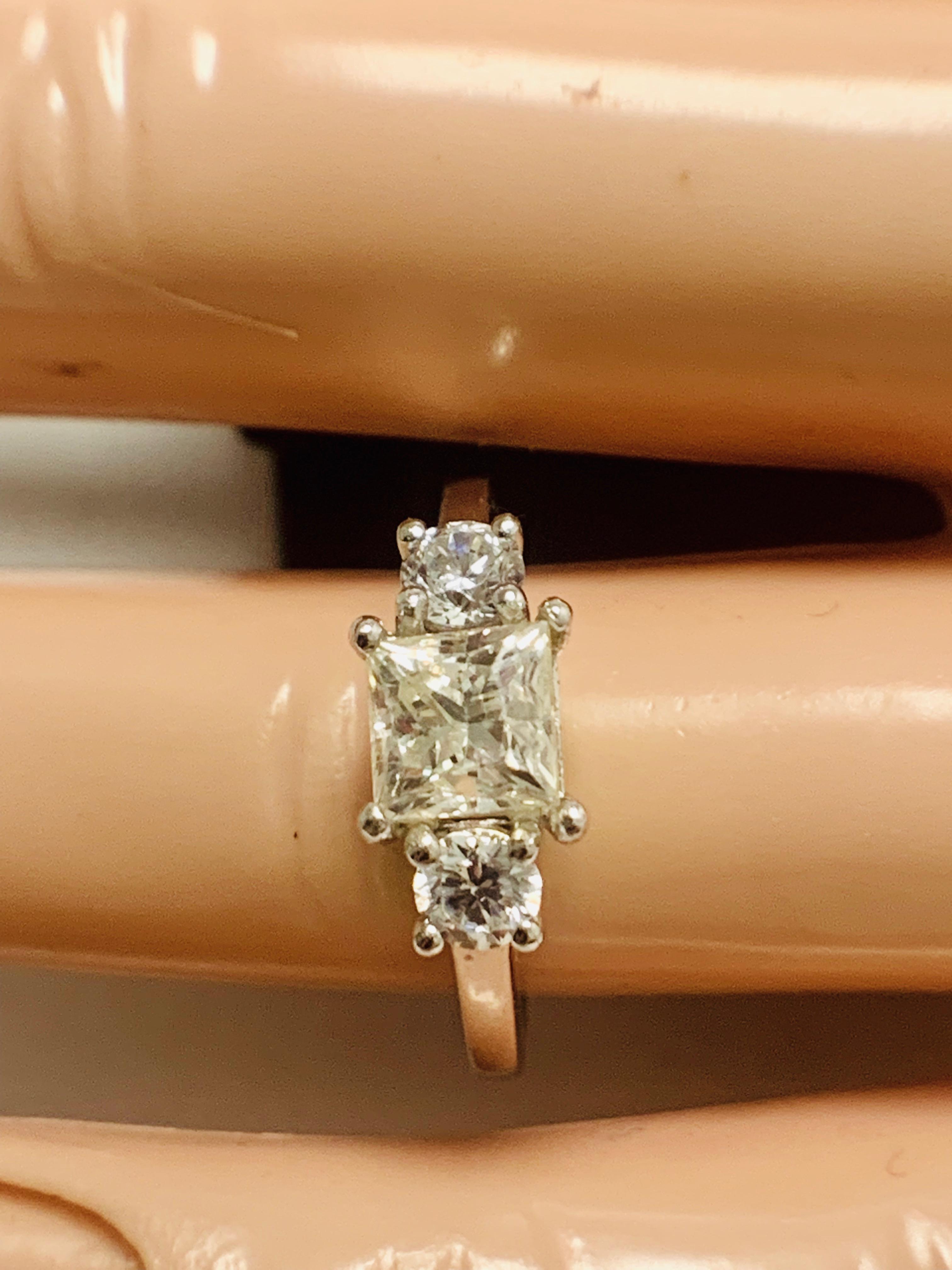 Platinum diamond three stone ring 1.50ct - Image 8 of 8