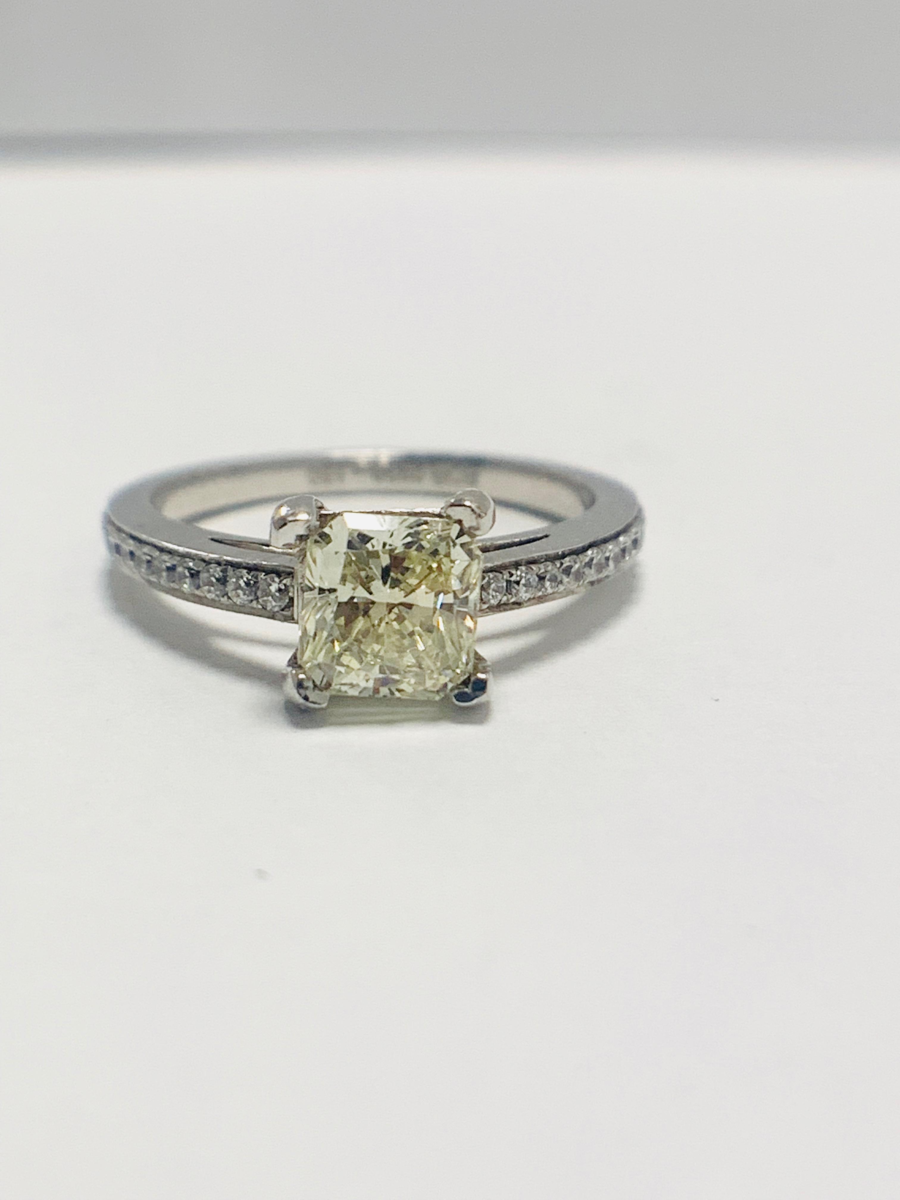 1ct cushion cut platinum diamond solitaire ring